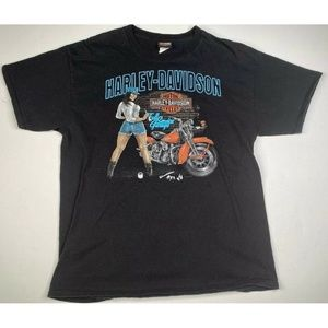 Harley Davidson Las Vegas Dealer T Shirt Graphic